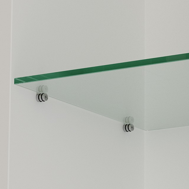 DOUBLE RUBBER CRYSTAL SHELF SUPPORT D.12X15